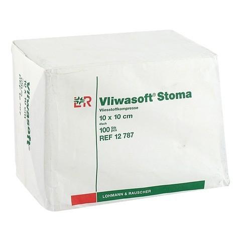 VLIWASOFT Stoma Kompressen 10x10 cm 4fach 100 Stück