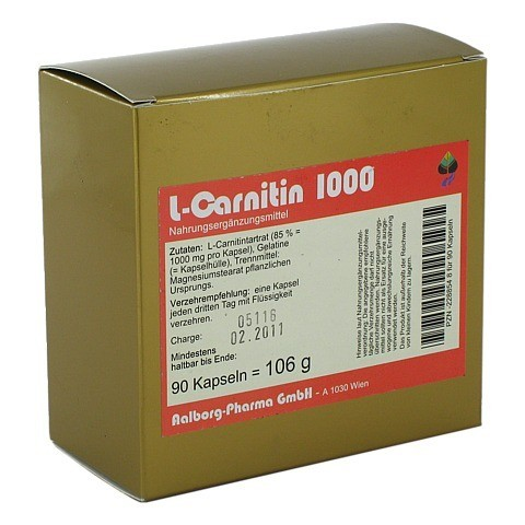 L-CARNITIN 1000 Kapseln 90 Stück