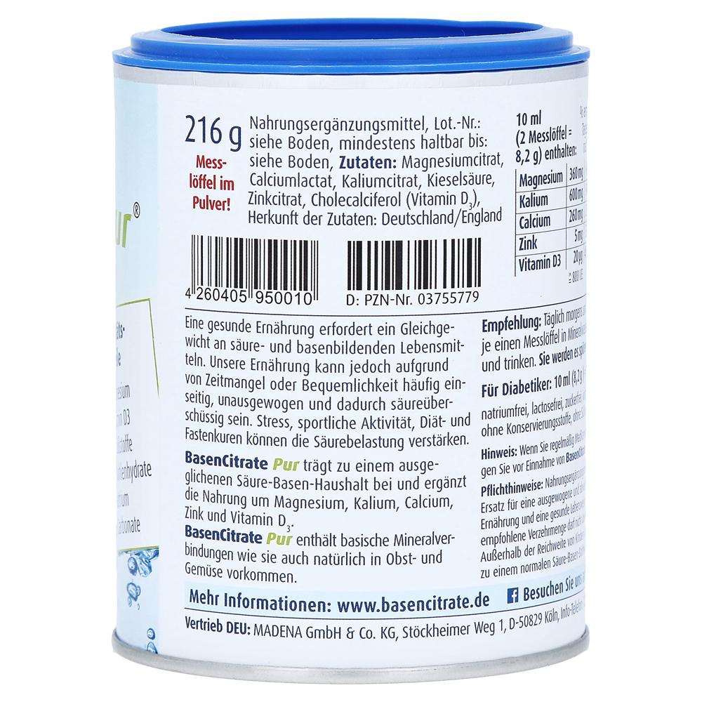 Erfahrungen zu Basen Citrate Pur 216 Gramm - medpex Versandapotheke