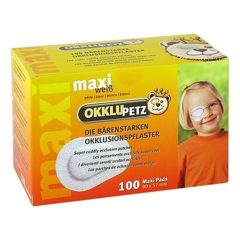 OKKLUPETZ Okklusionspflaster maxi weiß 100 Stück