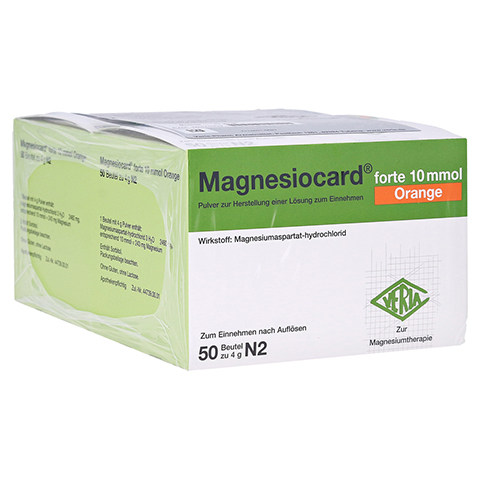 MAGNESIOCARD forte 10 mmol Orange Plv.z.H.e.L.z.E. 100 Stück N3