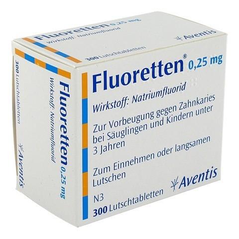 Fluoretten 0,25mg 300 Stück N3