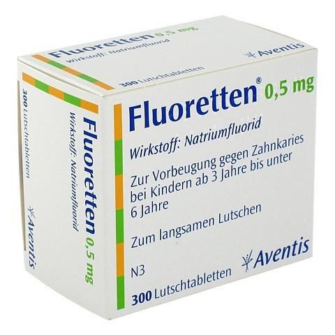 Fluoretten 0,5mg 300 Stück N3