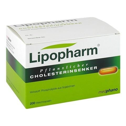 Lipopharm Pflanzlicher Cholesterinsenker Weichkapseln 200 Stück N3