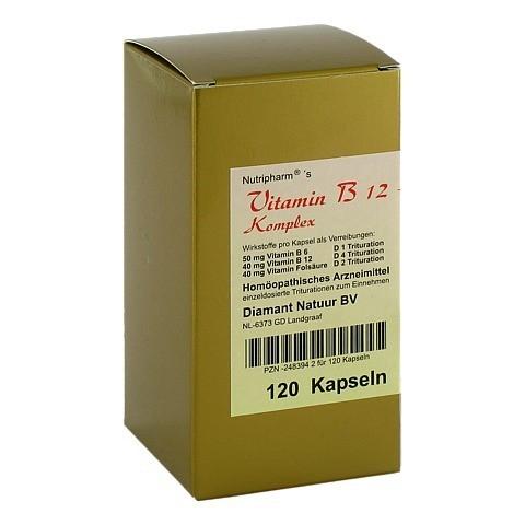 VITAMIN B12+B6+Folsäure Komplex Kapseln 120 Stück N1