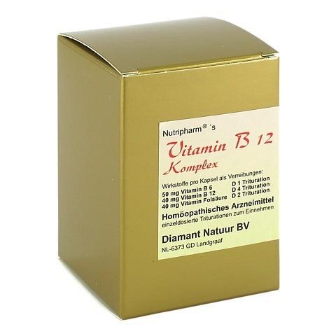 VITAMIN B12+B6+Folsäure Komplex Kapseln 60 Stück N1