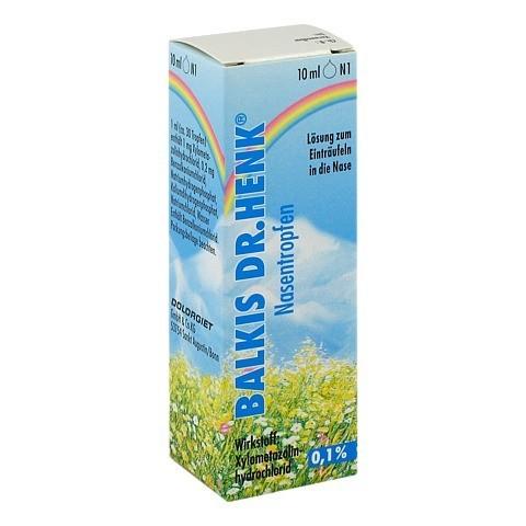 Balkis Dr.Henk Nasentropfen 0,1% 10 Milliliter N1
