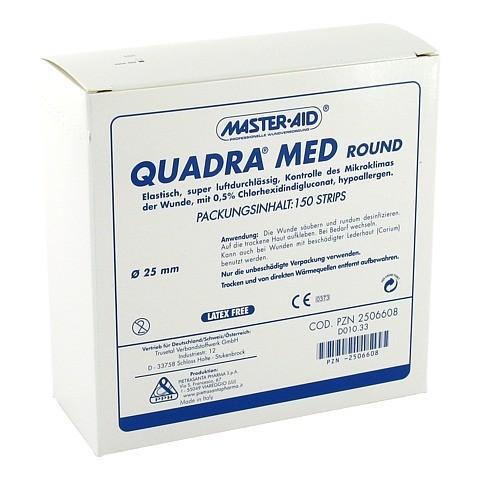 QUADRA MED round 22,5 mm Strips Master Aid 150 Stück