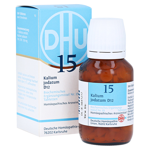 BIOCHEMIE DHU 15 Kalium jodatum D 12 Tabletten 200 Stück N2