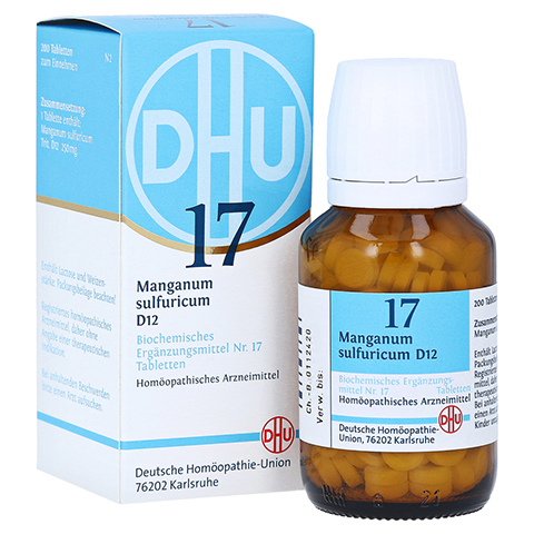 BIOCHEMIE DHU 17 Manganum sulfuricum D 12 Tabl. 200 Stück N2
