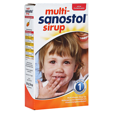 MULTI SANOSTOL Sirup ohne Zuckerzusatz 260 Gramm