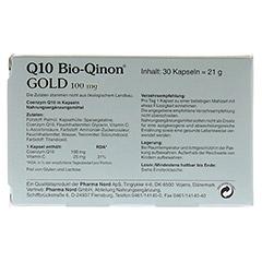 Q10 BIO Qinon Gold 100 mg Pharma Nord Kapseln 30 Stück - Rückseite