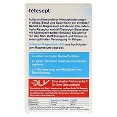 TETESEPT Magnesium 400 hochdosiert Filmtabletten 30 Stück - Rückseite