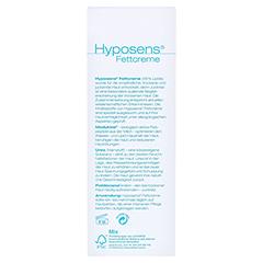 HYPOSENS Fettcreme 100 Gramm - Rückseite