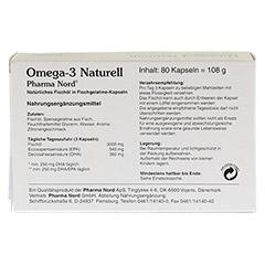 OMEGA 3 Naturell Pharma Nord Kapseln 80 Stück - Rückseite
