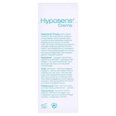 HYPOSENS Creme 50 Gramm - Rückseite