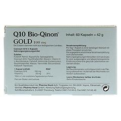 Q10 Bio-Qinon Gold 100 mg 60 Stück - Rückseite