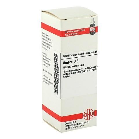 AMBRA D 6 Dilution 20 Milliliter N1