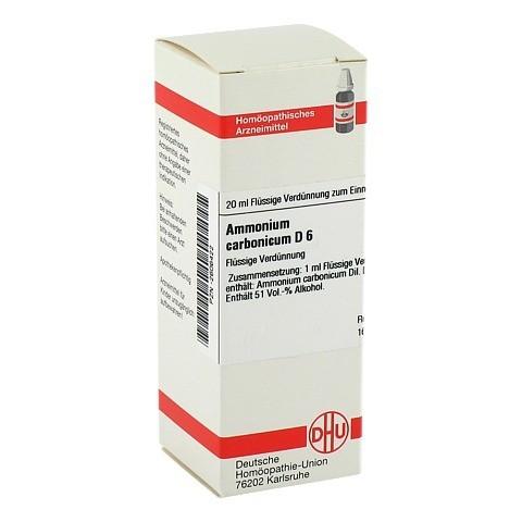 AMMONIUM CARBONICUM D 6 Dilution 20 Milliliter N1