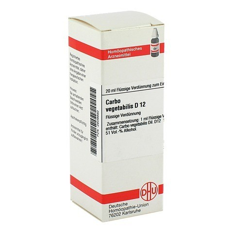 CARBO VEGETABILIS D 12 Dilution 20 Milliliter N1