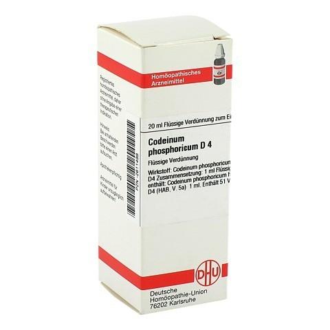 CODEINUM PHOSPHORICUM D 4 Dilution 20 Milliliter