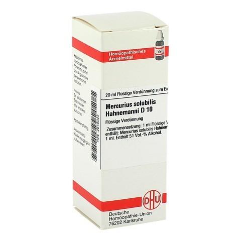 MERCURIUS SOLUBILIS Hahnemanni D 10 Dilution 20 Milliliter N1