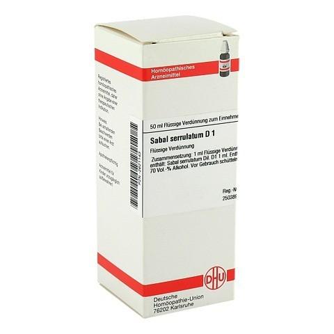 SABAL SERRULATUM D 1 Dilution 50 Milliliter N1