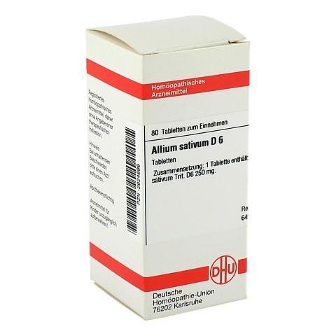 ALLIUM SATIVUM D 6 Tabletten 80 Stück N1