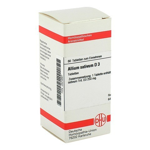 ALLIUM SATIVUM D 3 Tabletten 80 Stück N1