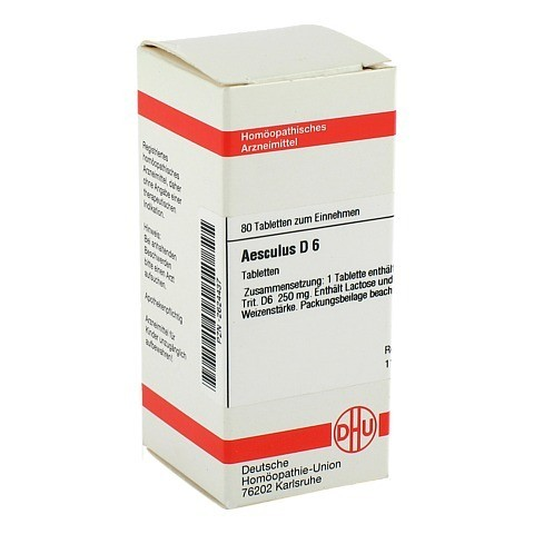 AESCULUS D 6 Tabletten 80 Stück N1