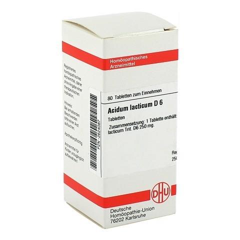 ACIDUM LACTICUM D 6 Tabletten 80 Stück N1