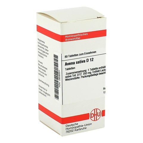 AVENA SATIVA D 12 Tabletten 80 Stück N1