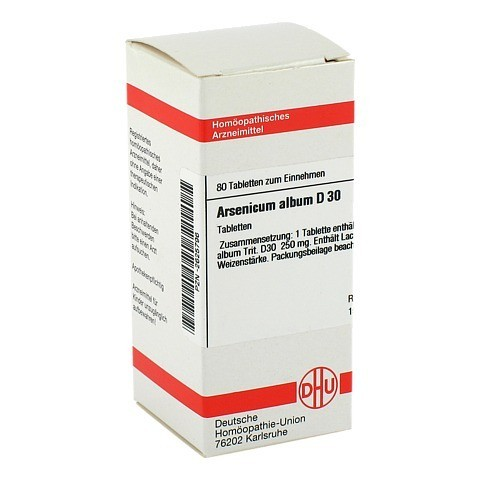 ARSENICUM ALBUM D 30 Tabletten 80 Stück