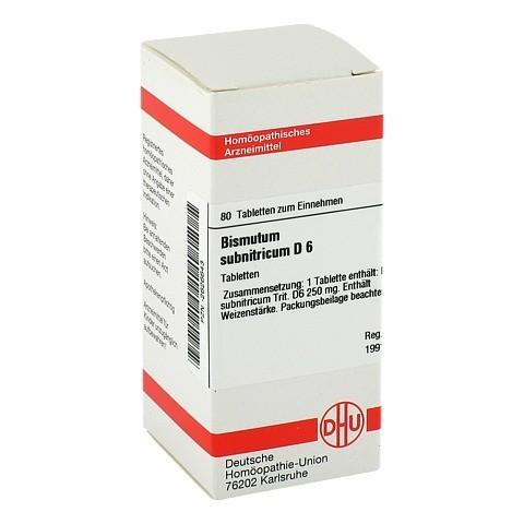 BISMUTUM SUBNITRICUM D 6 Tabletten 80 Stück N1