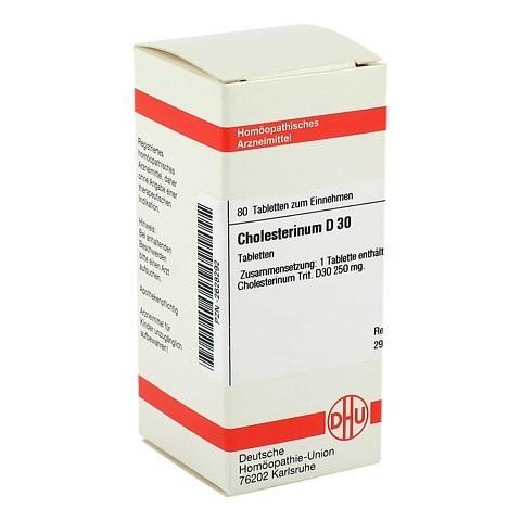 CHOLESTERINUM D 30 Tabletten 80 Stück