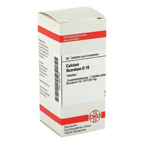 CALCIUM FLUORATUM D 10 Tabletten 80 Stück N1