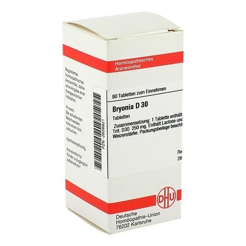 BRYONIA D 30 Tabletten 80 Stück