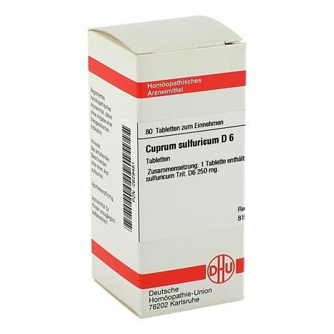 CUPRUM SULFURICUM D 6 Tabletten 80 Stück N1