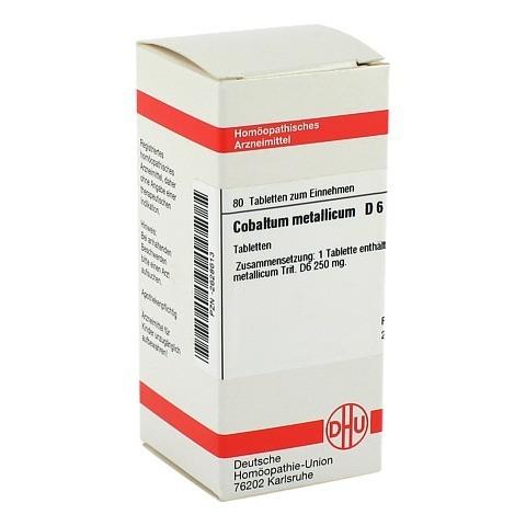COBALTUM METALLICUM D 6 Tabletten 80 Stück N1