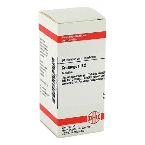 CRATAEGUS D 2 Tabletten 80 Stück N1