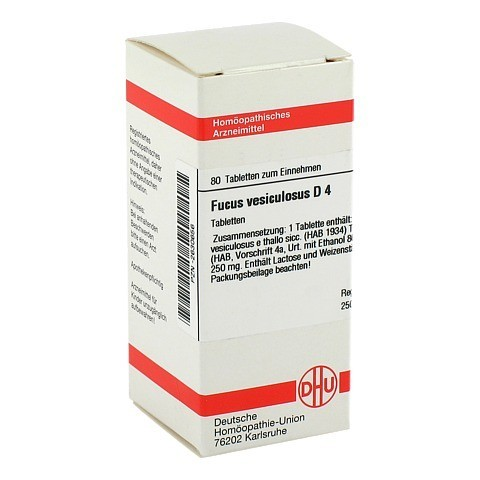 FUCUS VESICULOSUS D 4 Tabletten 80 Stück N1
