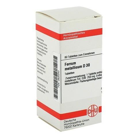 FERRUM METALLICUM D 30 Tabletten 80 Stück