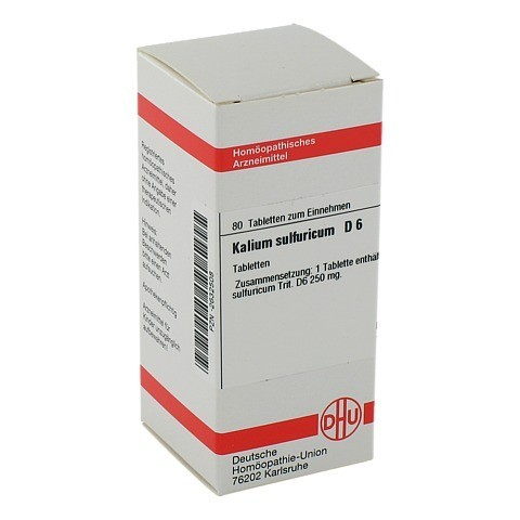 KALIUM SULFURICUM D 6 Tabletten 80 Stück N1