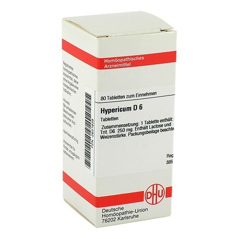 HYPERICUM D 6 Tabletten 80 Stück N1