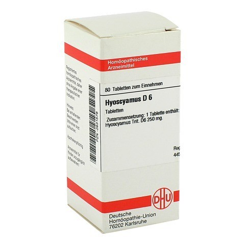 HYOSCYAMUS D 6 Tabletten 80 Stück N1