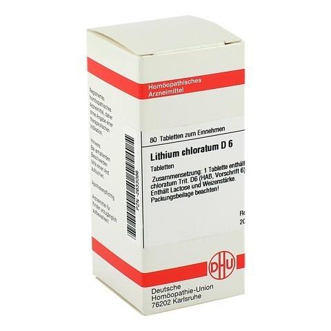 LITHIUM CHLORATUM D 6 Tabletten 80 Stück
