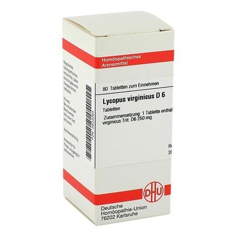 LYCOPUS VIRGINICUS D 6 Tabletten 80 Stück N1