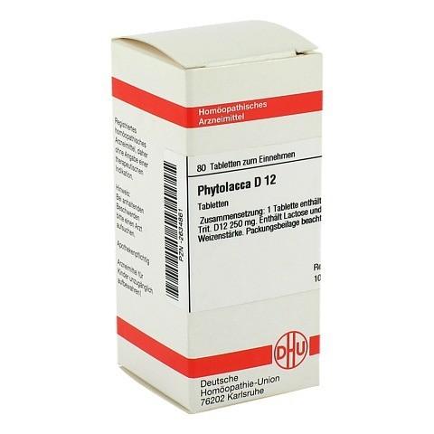 PHYTOLACCA D 12 Tabletten 80 Stück N1
