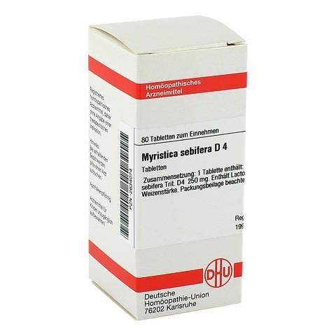 MYRISTICA SEBIFERA D 4 Tabletten 80 Stück N1