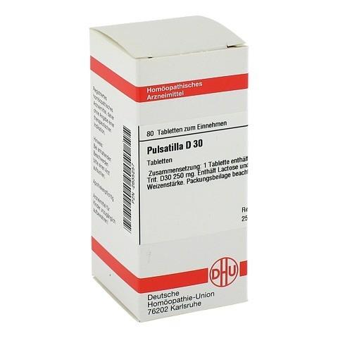 PULSATILLA D 30 Tabletten 80 Stück